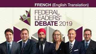 French Federal Leaders' Debate 2019 (English translation) Part 1