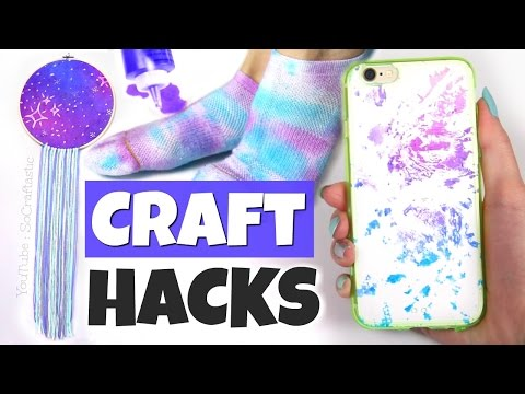 10 CRAFTING LIFE HACKS with Tie Dye // DIYs and Tie-Dye Basics - SoCraftastic