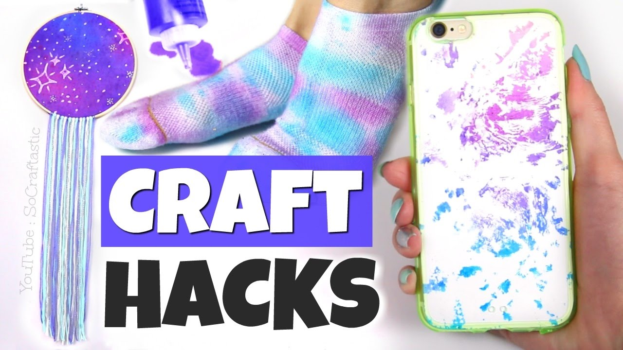 a83bad05f509 10 CRAFTING LIFE HACKS with Tie Dye
