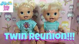 Baby Alive Twin Reunion!!! Marisa meets her twin Melissa! They Both Get Matching Outfits :-)