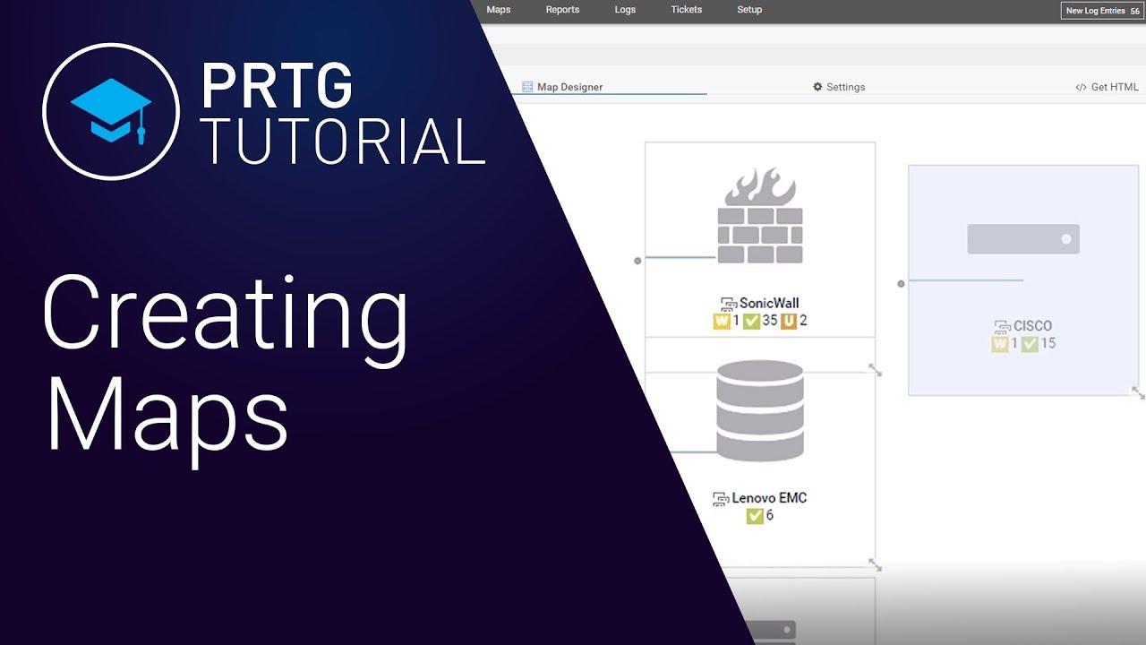 PRTG Tutorial: How to Set Up a Map in PRTG