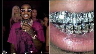 Quavo First Rapper With $1M Emerald Cut Diamond Grill