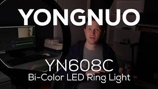 YONGNUO YN608 Bi-Color LED Ring Light unboxing/review