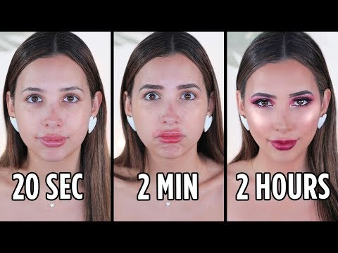Doing My MAKEUP In 20 SECONDS vs 2 MINUTES vs 2 HOURS | Mar thumbnail
