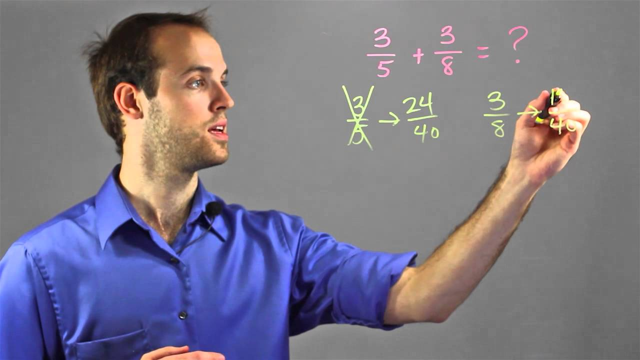How To Change Fractions With Unlike Denominators, But The Same Numerator :  Math Help
