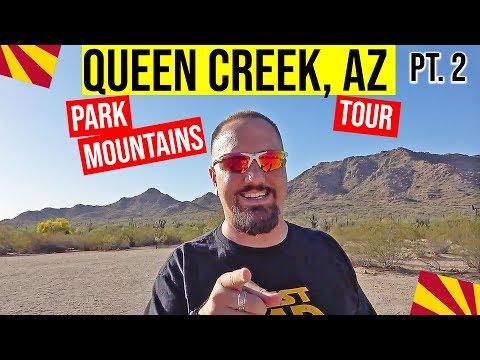Queen Creek, Arizona (Pt 2) Park, Mountains & Driving Tour: Living In Phoenix, Arizona Suburbs