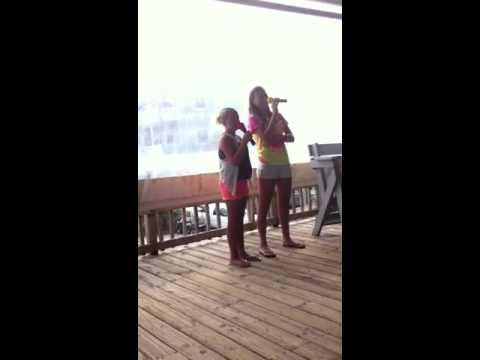 Madison and Marie karaoke