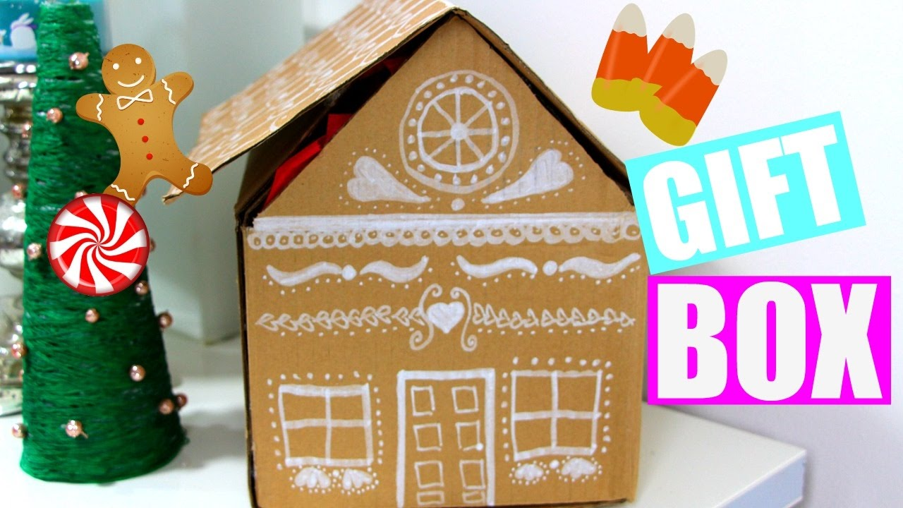 DIY Gingerbread House Gift Box | Easy Gift Wrap IDEAS + Holiday Giveaway  (Closed)   YouTube