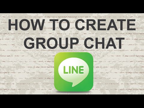 How to create group chat in Line App