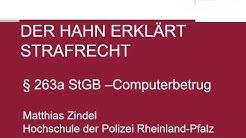 Der Hahn erklärt Strafrecht - § 263a StGB Computerbetrug