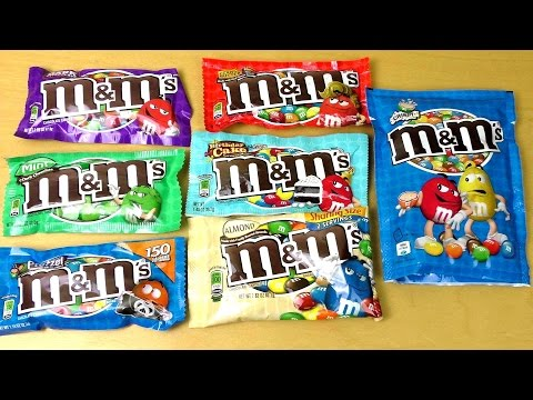 M&M's in different Flavors [Mars mms  Variety Review]