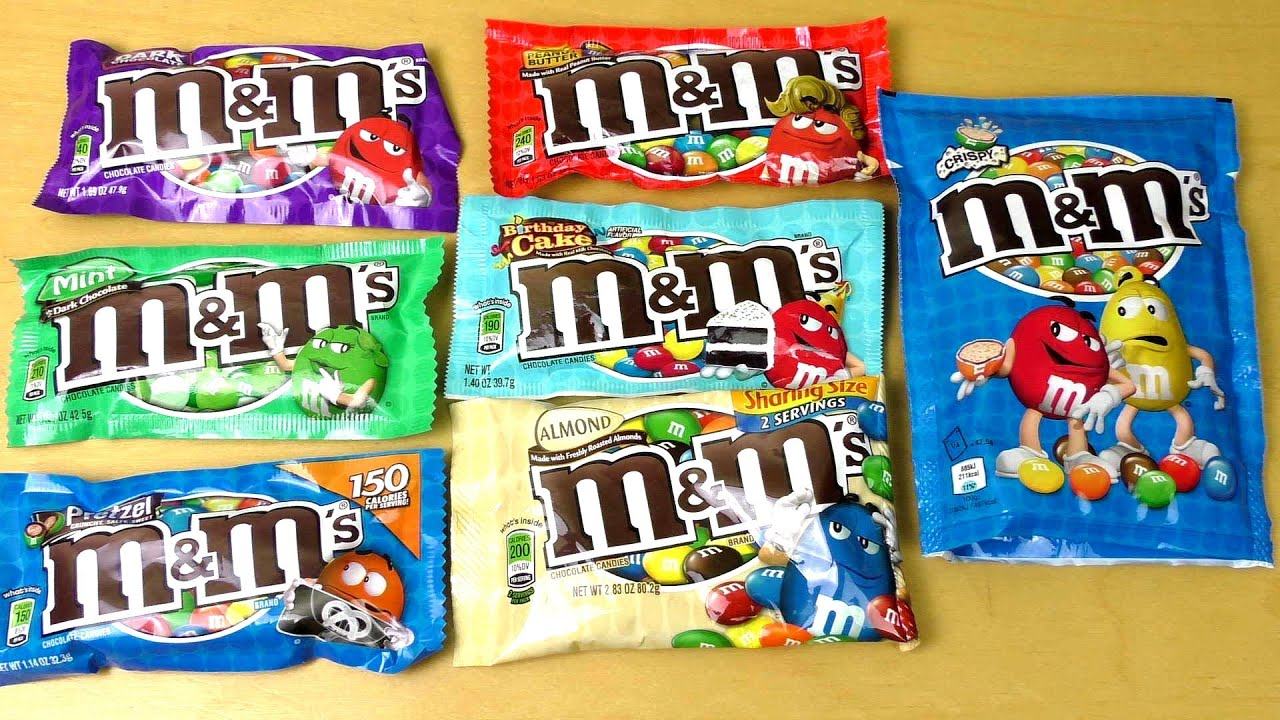 MMs in different Flavors Mars mms Variety Review YouTube