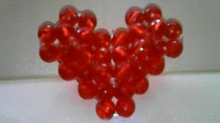 DIY-how to make a heart shape of beads,cara membuat bentuk hati dari manik-manik