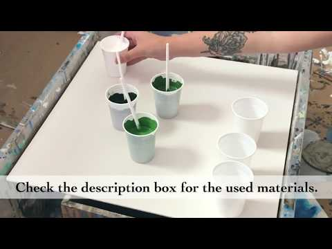 How to do a dirty pour flip cup with 3 cups! Fluid acrylic tutorial