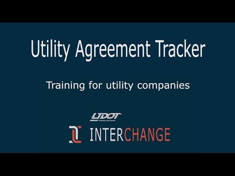 UDOT Utility Tracker tutorial for owners
