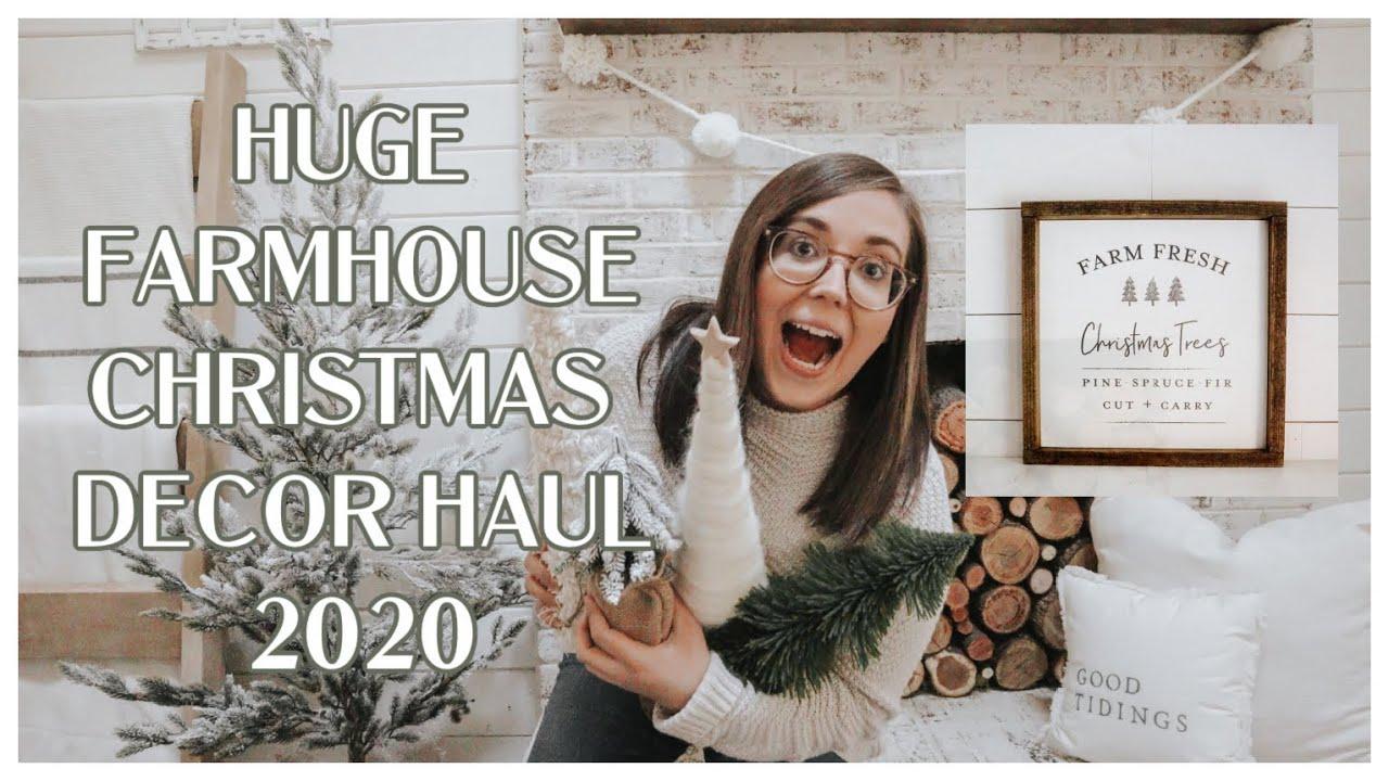 Huge Farmhouse Christmas Decor Haul Christmas 2020 Decor House Holm Christmas Collection Youtube