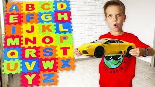 Учимся считать и Алфавит с машинками Сборник для детей