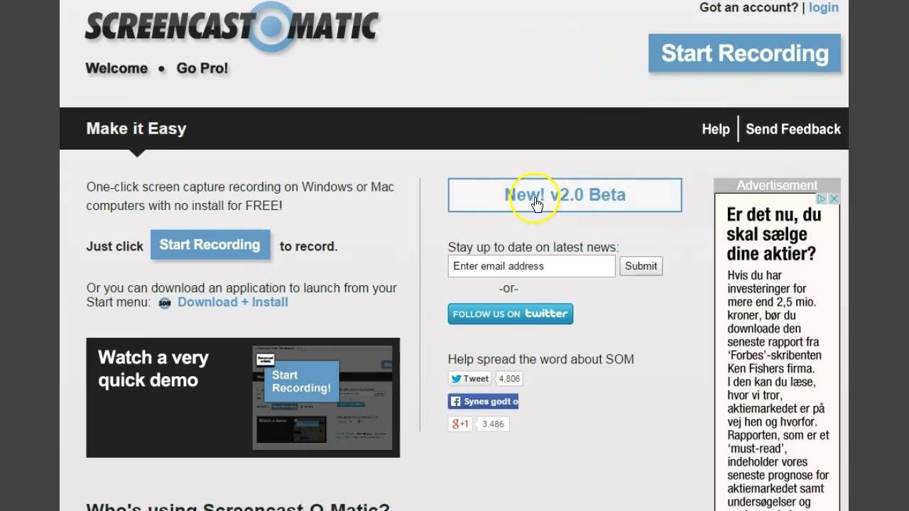 Installer Screencast-O-matic