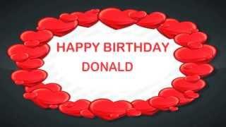 Donald   Birthday Postcards & Postales - Happy Birthday