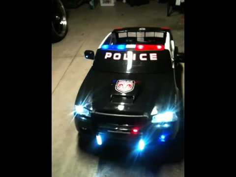 Dodge Charger Police car Power Wheel LED modification  YouTube