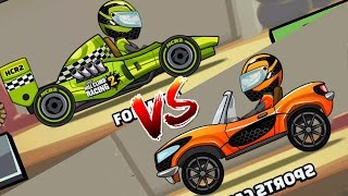 Hill climb racing 2 ✔ formula vs sports car