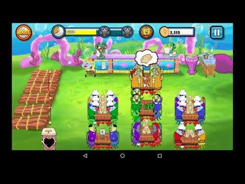 SpongeBob SquarePants Diner Dash Deluxe Gameplay (World 5)
