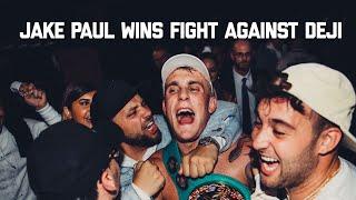 Jake Paul beats Deji in Manchester - BTS footage