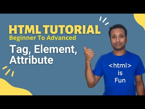 HSC ICT | Bangla HTML Tutorial 7 : Tag, Element & Attribute
