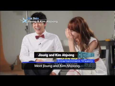 [Star Date] Jisung & Kim Ah-joong (지성 & 김아중) - At the movie poster shoot!
