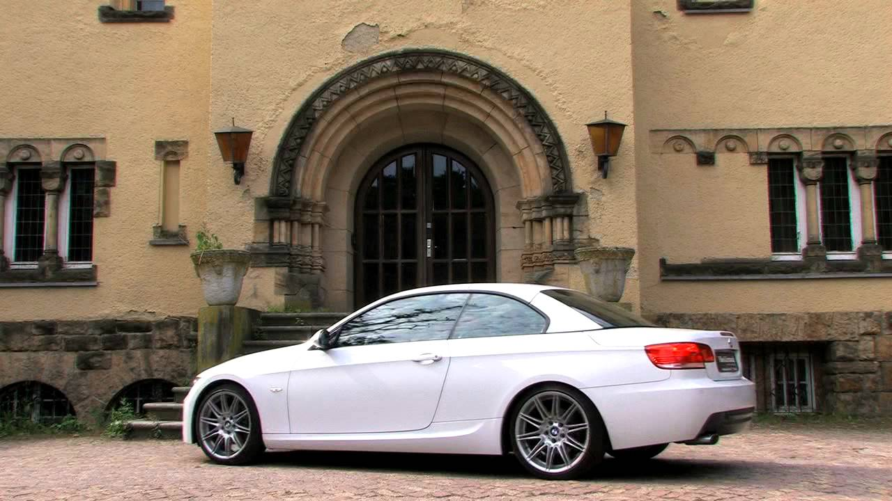 bmw 320d cabriolet mit 177 ps und automatik getriebe als gebrauchtwagen youtube. Black Bedroom Furniture Sets. Home Design Ideas