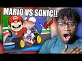 MARIO VS SONIC! | R@cist Mario Reaction!