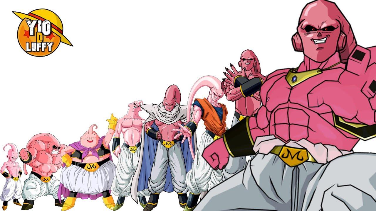 TODAS LAS TRANSFORMACIONES DE MAJIN BUU | DRAGON BALL Z , HEROES , XENOVERSE Y SUPER