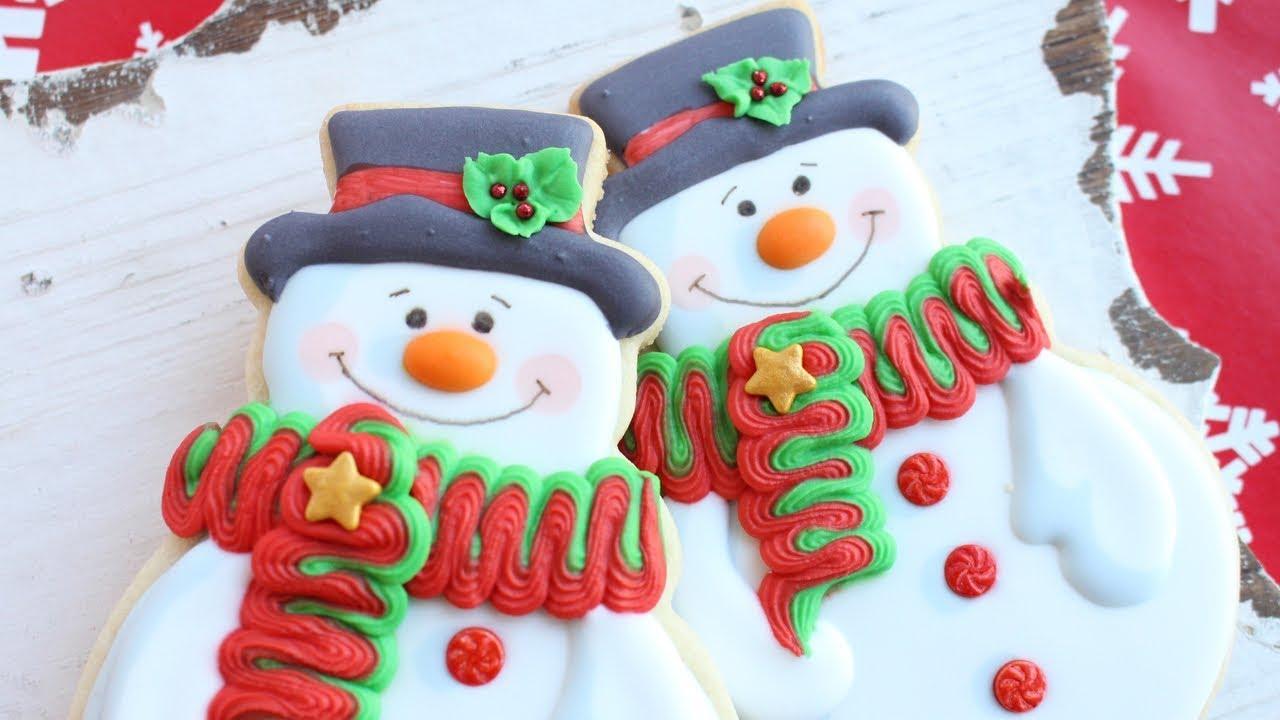 Christmas Cookies Snowman Cookies How To Make Christmas Cookies Instrumental Satisfying Videos