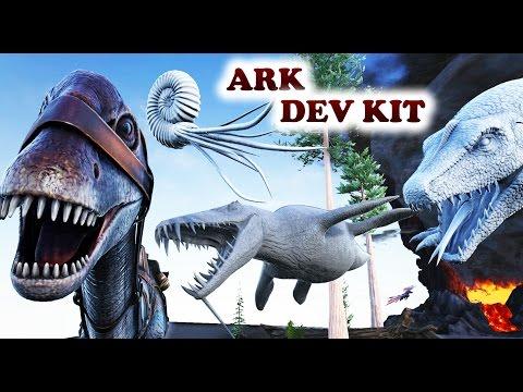 ARK Dev Kit | Colored Diplodocus, Liopleurodon, Basilosaurus