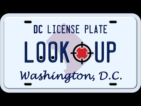 How to Search a District of Columbia License Plate Number