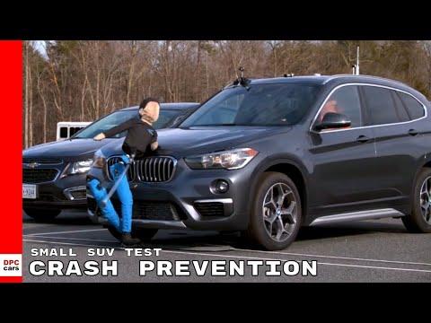 Small SUV Pedestrian Crash Prevention Test