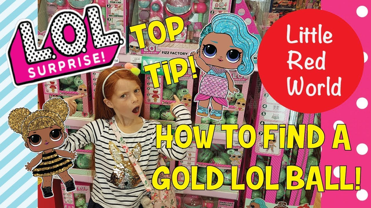 How To Find An Lol Surprise Gold Ball Hack Little Red World