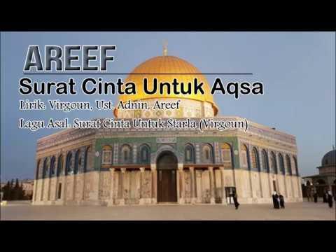 Surat Cinta Untuk Aqsa (Lyric Video) - By Areef (Cover Surat Cinta Untuk Starla - Virgoun)