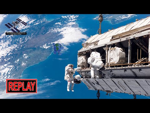 REPLAY: ISS spacewalk with Nick Hague and Andrew Morgan to install Int'l Docking Adapter-3 (8/21/19)