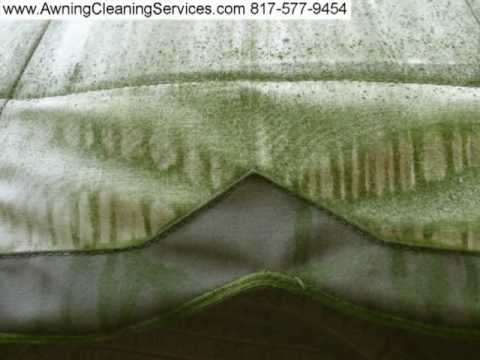 Awning Cleaning to Remove Mold  Mildew from a Canvas