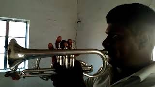Gambar cover Kadam kadam badayajaye song in trumpet playing Ramachandra bajantri