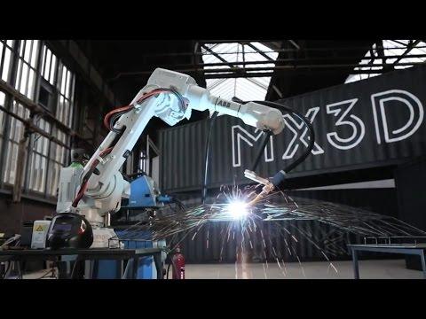 "Producing the world's first 3D-printed bridge with robots ""is just the beginning"" - Joris Laarman"