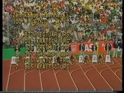 daley thompson european athletics championships decathlon gold stuttgart 1986 1 youtube. Black Bedroom Furniture Sets. Home Design Ideas