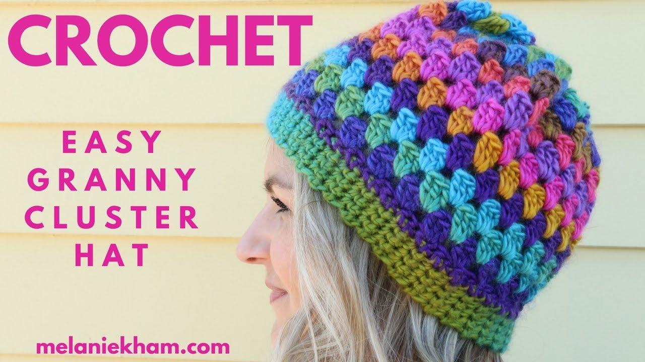 Easy Granny Cluster Crochet Beanie - Beginner Friendly - YouTube 45f3dc77973