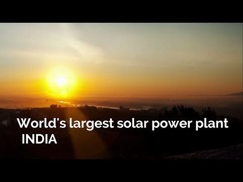 India builds the world's largest solar power plant – JD Official