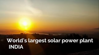 India builds the world's largest solar power plant - JD Official