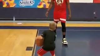 Kid Use Double Stepback Move Against James Harden Goes Viral!!!