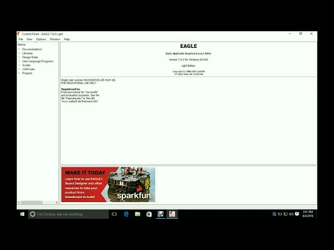 OobaTech #14 - How To Download And Install CadSoft EAGLE Version 7.6 ...