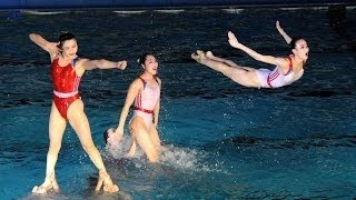 [HQ FULL] Synchronized Swimming in Pyongyang, DPRK 2015