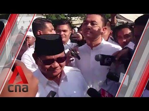 Indonesia elections 2019: Prabowo votes in Bogor